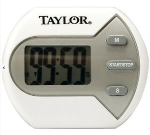 """Taylor Classic Big Digit Timer for Kitchen 0.7"""" Display Clip Magnet or Stand Up"""