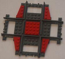 Custom Lego 90 Deg. Crossing / Crossover Track (red) Power Function & RC Train