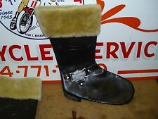 Harley Davidson Leather Boot Christmas Stocking With Metal and Embossed Emblem.#
