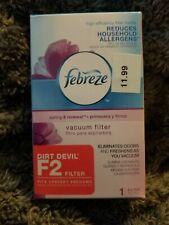 """Febreze """"Spring & Renewal"""" Scented Vacuum Filter For Size F2 Dirt Devil Uprights"""
