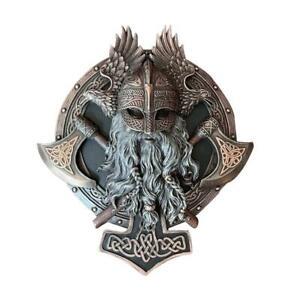 décoration, murale sculpture Viking Berserker en resine