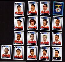 Panini FOOTBALL UEFA Champions League 2010 2011 10 11 benfica No 17 figurines