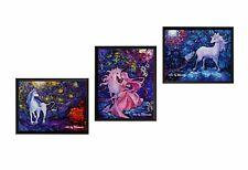 3 pcs Unicorn The Unicorns Van Gogh Starry Night Wall Art Nusery Decor M042