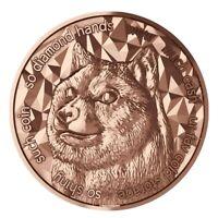 2021 Dogecoin 1oz Fine Copper BU Round - Blockchain Mint