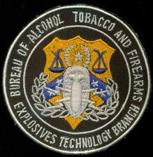 ATF Bureau Alcohol Tobacco Firearms Explosives Technology Branch Police Patch A1
