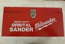 Vintage Red Milwaukee Metal Case Heavy Duty Orbital Sander CASE ONLY!