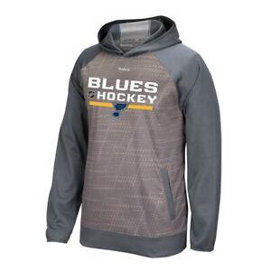 St. Louis Blues Reebok Center Ice TNT Authentic Locker Hoodie Men's