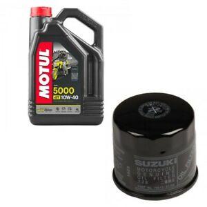 Genuine Suzuki oil & filter service kit 16510-07J00 4L Motul 5000