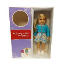 """American Girl TRULY ME 18"""" DOLL #27 Blue Eyes Blond Hair Floral Dress DN27 NEW"""