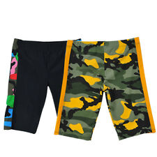 Boys Swimming Trunks Surfing Training Camo Board Shorts Water Sports Beachwear