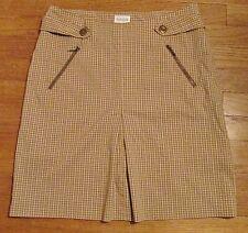 Blain & Cartwright Women's Athletic Golf Skort Skirt Tan Plaid Size 8 Excellent!