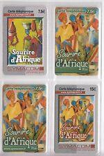 4 TELECARTE / PHONE CARD .. FRANCE PREPAYEE SYMACOM AFRIQUE MIX 2  DIFFERENTS A4