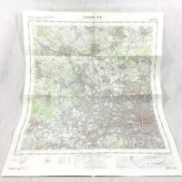 1967 Vintage Militare Mappa Di North Occidente London Kensington Camden Watford