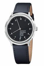 Genuine Leather Band Men's Polished 30 m (3 ATM) Watches