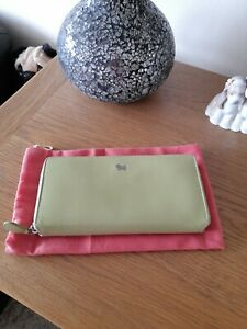 Radley Lime Colour Leather Purse With Dustbag