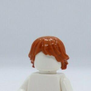 HAIR - Dark Orange Tousled and Layered / Ron Weasley LEGO® Minifigure Part