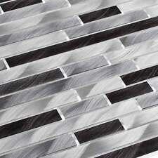 Aluminium Metall Mosaik Fliesen Metallmosaik Stäbchen gebürstet Schwarz Grau
