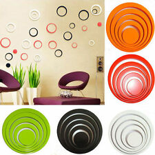 1 Set 3D Circles Ring DIY Art Wall Sticker Room Home Decoration Removable 2015