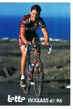 CYCLISME carte cycliste NICO MATTAN équipe LOTTO ISOGLASS 1996