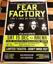 "FEAR FACTORY POSTER 2001 CONCERT TOUR BRISBANE ARENA BIG 60""x40"" Industrial YLW"