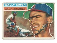 Wally Moon (deceased) signed 1956 Topps card, St. Louis Cardinals, autograph
