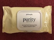 Philosophy Purity Made Simple One-Step Facial Cleansing Cloths 30 ct. NEW!