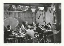 "*Washington Postcard-""The Outrigger"" (@ Benjamin Franklin Hotel) *Seattle  (A11)"