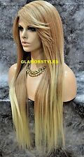 Long Layered Medium Blonde Full Lace Front Wig Heat Ok Hair Piece #T27.613 NWT