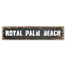 SP0373 ROYAL PALM BEACH Street Sign Bar Store Cafe Home Kitchen Chic Decor Gift