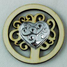 Bomboniera calamita magnete in legno cm 8 stile etnico decoro aborigeno