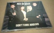 RARE - ACE OF BASE DONT TURN AROUND 3 TRK POP DANCE CLUB DJ PROMO SINGLE MIX CD