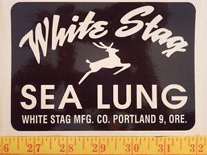 Whitestag Tank  Decal Reproduction  Vintage Scuba Sticker White Stag