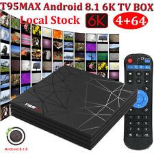 4+64G 6K Android 8.1 Quad Core Smart TV BOX USB 3.0 Media Player 3D Film MINI PC