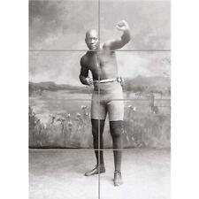 "Vintage jack Johnson Boxer Champion World Wall Art Panel Poster Print 33X47"""