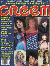 3/77 Creem magazine  Abba  KISS  Aerosmith  Patti Smith  Graham Parker