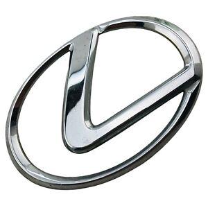 2002 2003 2004 Lexus ES300 Emblem Logo Symbol Badge Decal Front Hood Chrome OEM