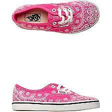 Vans Authentic Lo Pro (Bandanna) Pink/White Kids 10.5