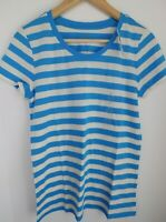 NWT GAP Women's Favorite Crew Neck T-Shirt Blue/White Striped XS S M L NEW