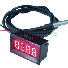 Red Led Digital Car Temperature Meter Thermometer 55 125c Ds18b20 Sensor Fc F