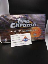1997-98 TOPPS CHROME BASKETBALL FACTORY SEALED BOX - DUNCAN KOBE JORDAN READ!