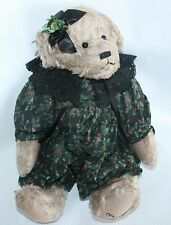 Christmas Teddy Bear Plush Stuffed Cottage Collectibles Hollie Black Lace