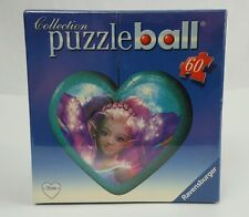 Ravensburger Fairy Design Aqua Heart-shaped 60 Piece Puzzleball Ornament-NIB