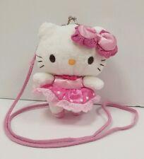 Vintage Sanrio Ballerina Hello Kitty Plush Kiss Lock Coin Purse Kids Pocketbook