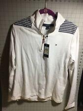 Tommy Hilfiger Women's Half Zip Mock Neck Long Sleeve Medium Sweater Sweatshirt