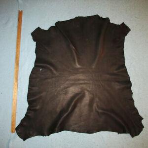 Premium Soft Black Sheepskin Leather Hide