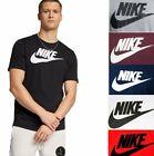 Nike Mens Athletic Wear Short Sleeve Logo Swoosh Printed Gym Active T-Shirt