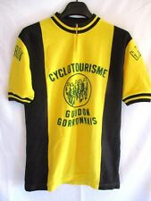 Maillot cycliste vintage GUIDON GORRON années 70 made in France jaune shirt 4 L