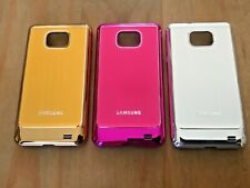 PLASTIC BACK CASE COVER FOR SAMSUNG GALAXY S2 i9100 - 3 BRUSHED METALLIC COLOURS