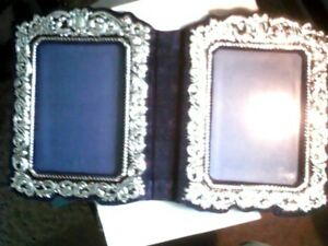 Hallmark 5x7 Silver color  Double Frame WFR3081 Wedding etc