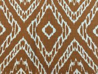 Robert Allen Strie Ikat Upholstery Fabric Caramel Brown Multipurpose 3.7 Yards
